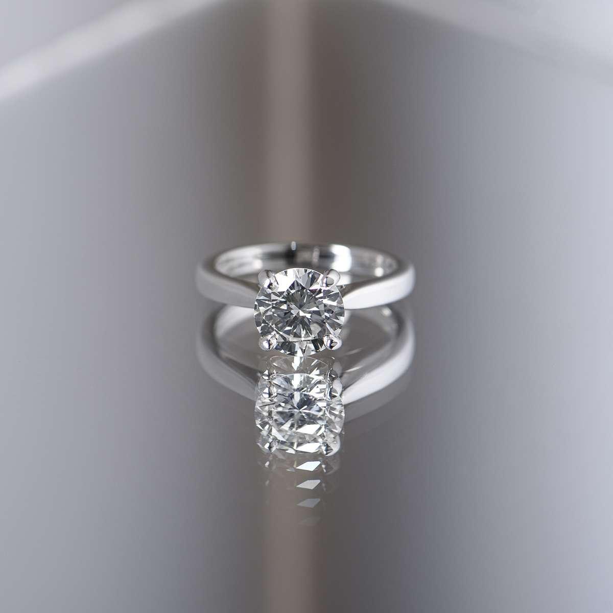 Platinum Round Brilliant Cut Diamond Ring 2.01ct I/VVS2 XXX